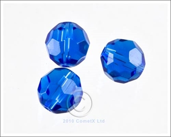 Picture of Round Faceted Glass  (Dark Sapphire) - 10mm (PK 10)