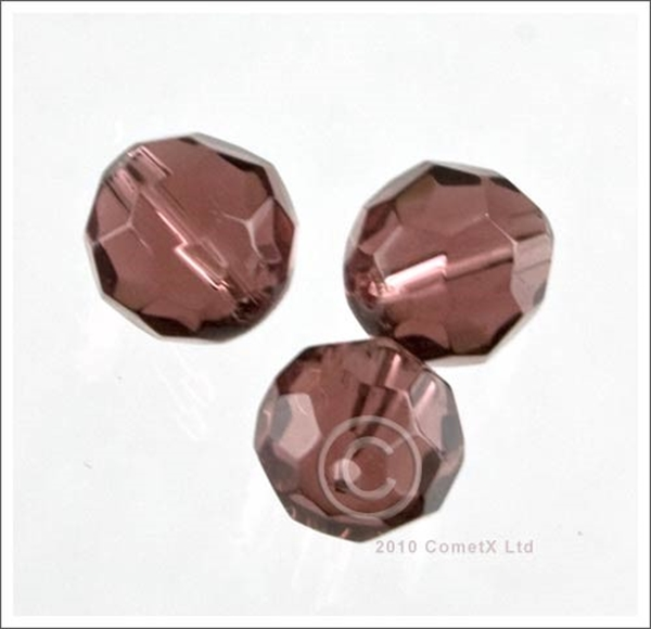 Picture of Round Faceted Glass (Light Amethyst) - 10mm (PK 10)