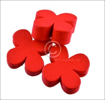 Picture of Flower Wood Bead (Red) - 13mm (Pk 25)