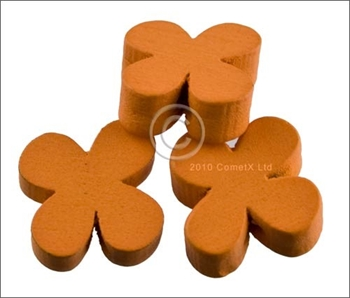 Picture of Flower Wood Bead (Orange) - 13mm (Pk 25)