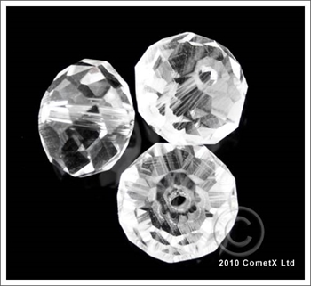 Picture of Rondelle Faceted Bead ( Clear) - 10mm