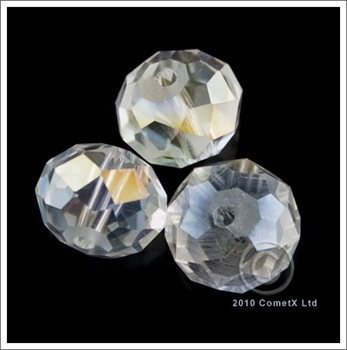 Picture of Rondelle Faceted Bead (Clear - AB) - 10mm
