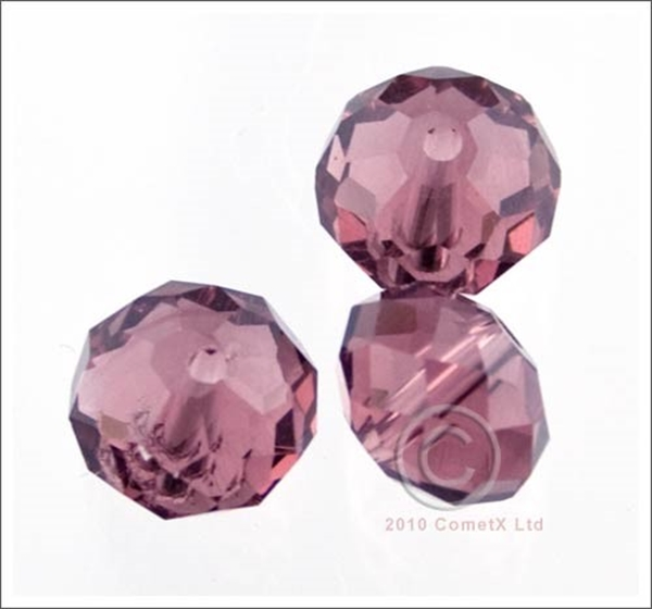 Picture of Rondelle Faceted Bead (Purple) - 10mm