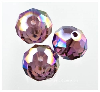Picture of Rondelle Faceted Bead (Purple AB) - 10mm