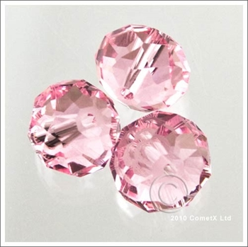 Picture of Rondelle Faceted Bead (Light Pink) - 10mm