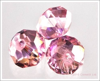 Picture of Rondelle Faceted Bead (Light Pink AB) - 10mm