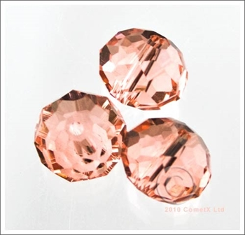 Picture of Rondelle Faceted Bead (Salmon) - 10mm