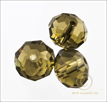 Picture of Rondelle Faceted Bead (Smoke) - 10mm