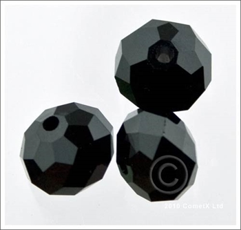 Picture of Rondelle Faceted Bead (Black) - 10mm