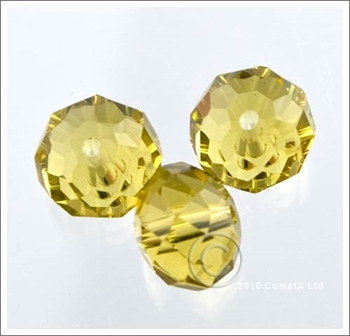 Picture of Rondelle Faceted Bead (Light Yellow) - 10mm