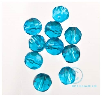 Picture of Peacock Faceted Glass - 6mm (PK 50)