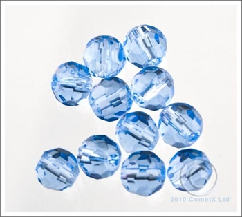 Picture of 6mm Faceted Glass - Light Blue (PK 50)