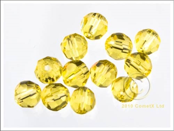 Picture of 6mm Faceted Glass - Yellow (PK 50)