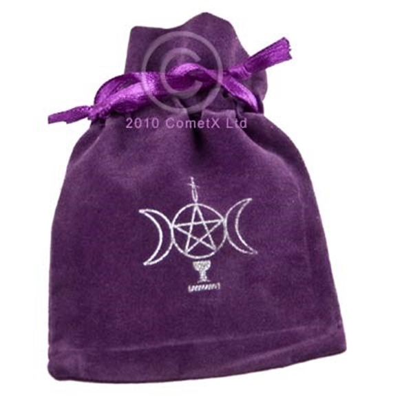 Picture of Velveteen Pouch - Wicca (Purple) 10x7.5cms