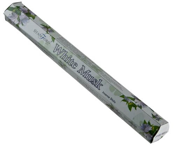 Picture of White Musk Incense Sticks - Hexagonal Box
