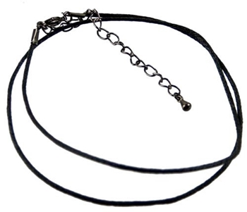 Picture of Cotton Cord Choker- Black (Adjustable)