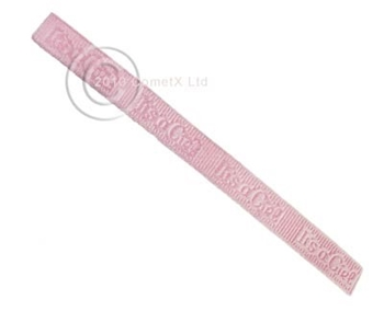 Picture of Ribbon - It's a Girl (Pink Grossgrain ) 10mm PER METER