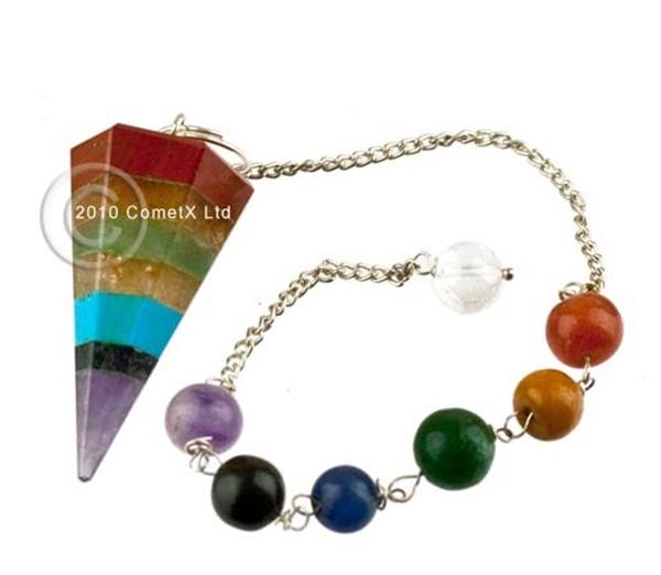 Picture of Pendulum - Multi Gemstone (Chakra Chain)
