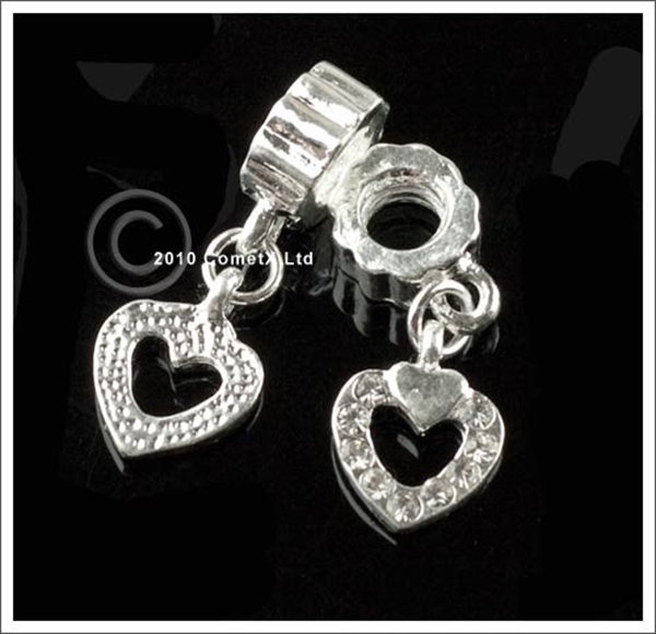 Picture of Diamonte Heart Stop Bead - Pk 2