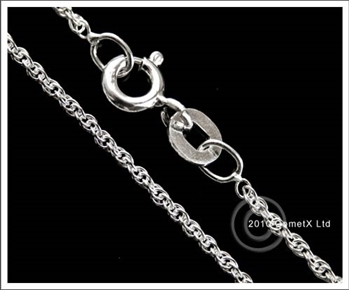 Picture of Prince of Wales Rope (Light) 18inch (Sterling Silver)