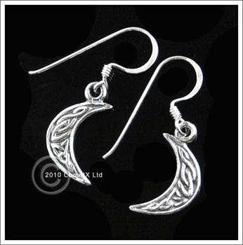 Picture of Crescent Moon Earrings - Sterling Silver