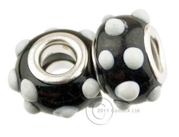 Picture of Pandora Style - BlackWhite Dots (Pk 2)