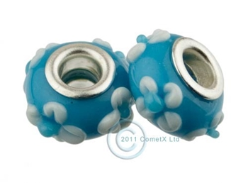 Picture of Pandora Style - Light Blue White Flowers (Pk 2)