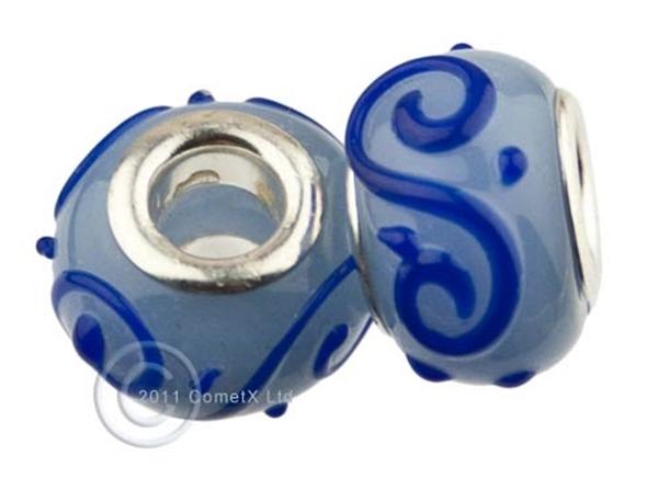 Picture of Pandora Style - Mid Blue Swirl (Pk 2)
