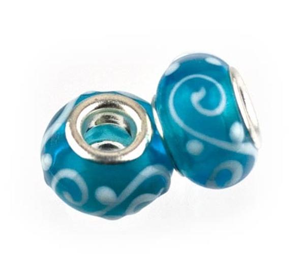 Picture of Pandora Style - Peacock Blue Swirl (Pk 2)