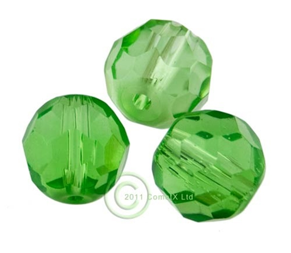 Picture of 12mm Faceted Glass - Green (PK 10)