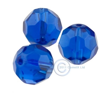Picture of 12mm Faceted Glass - Saphire (PK 10)