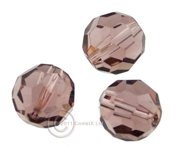 Picture of 12mm Faceted Glass - Light Grape (PK 10)