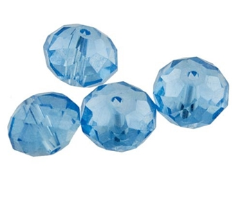 Picture of Rondelle Faceted Bead (Light Blue ) - 10mm