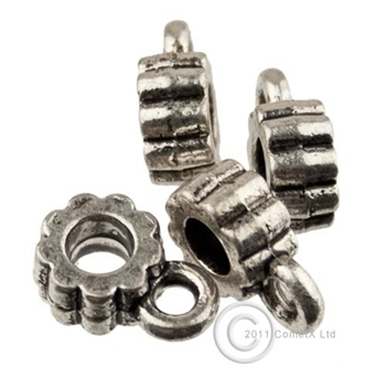 Picture of Metal Spacer Bead - Charm Hanger (Cog) - Pk10