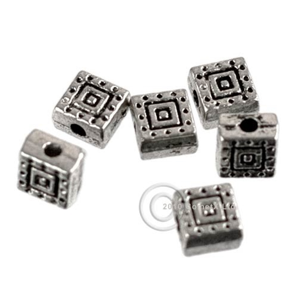 Picture of Square Spacer Beads - Metal (Pk 20)