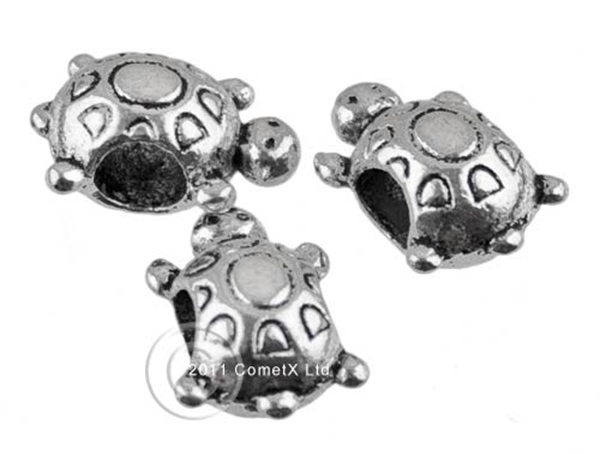 Picture of Turtle Spacer Bead - Tibetan Silver (Pk 10)