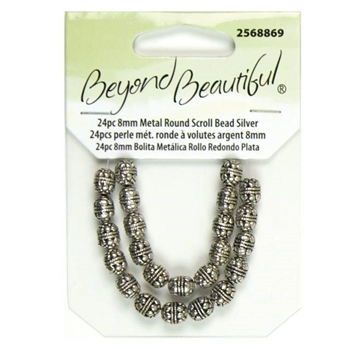 Picture of Metal Scroll Beads - 8mm length (Pk 24)