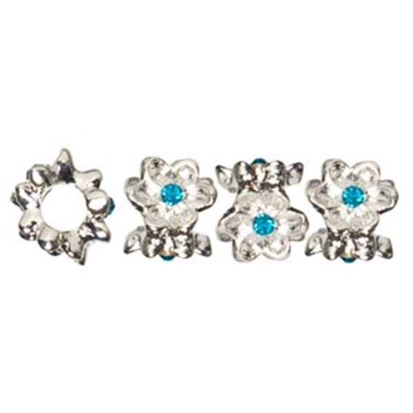 Picture of Spacer Beads - Crystal Flower (Blue)