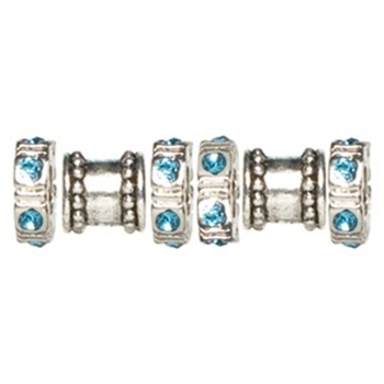 Picture of Spacer Beads - Blue Diamonte