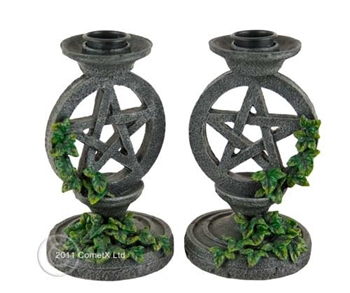 Picture of Pentacle And Ivy Candle Holders (Pair)