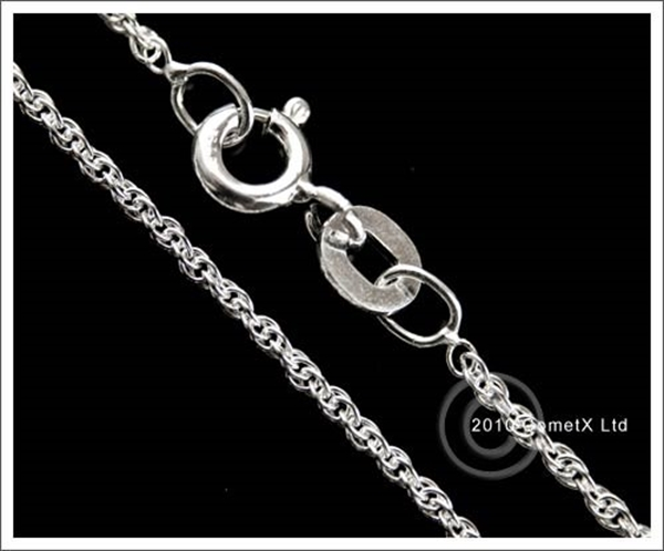 Picture of Prince of Wales Rope (Light) 22inch (Sterling Silver)