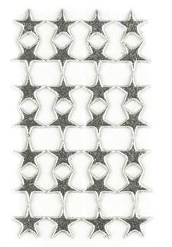 Picture of Applique Wax Silver Stars - Candle Decoration (Sheet of 16)