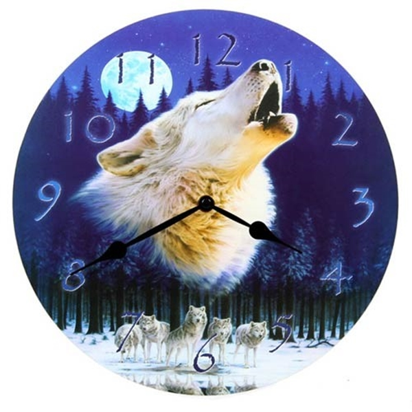 Picture of Clock - Howling Wolf