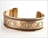 Picture of Triple Moon Bangle - Copper And Brass