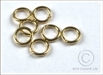 Picture of Jump Rings (Gold Plate) 6mm - Pk 100