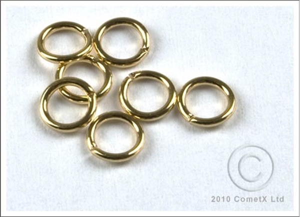 Picture of Jump Rings (Gold Plate) 4.5mm - Pk 100