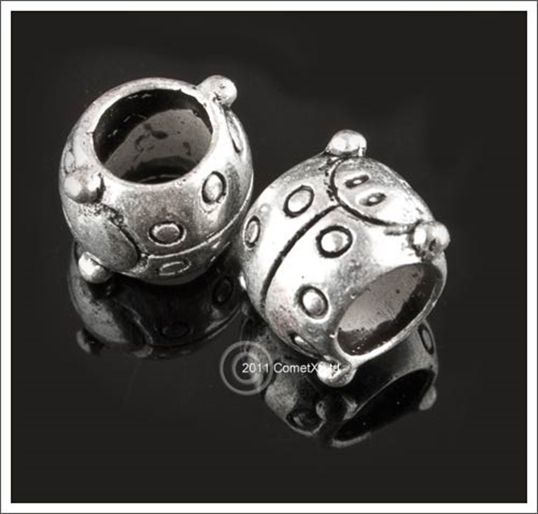 Picture of Ladybird Metal Beads (5.5mm Hole) - Pk 10