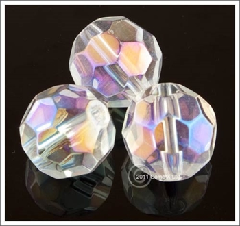 Picture of Crystal (AB) Faceted Glass - 12mm (PK 10)