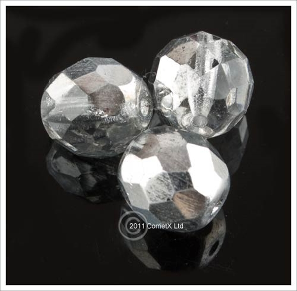 Picture of SilverCrystal Faceted Glass - 10mm (PK 10)