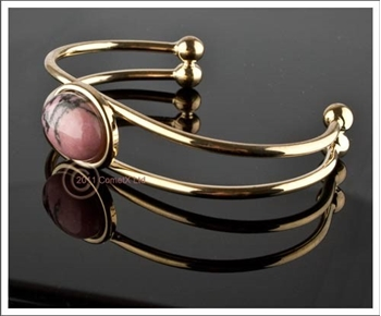 Picture of Rhodonite - Bangle (Gold Tone)